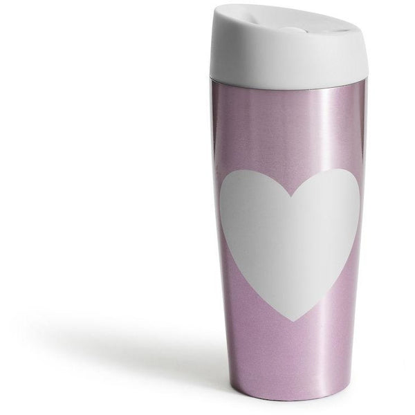 Car mug with lock button heart