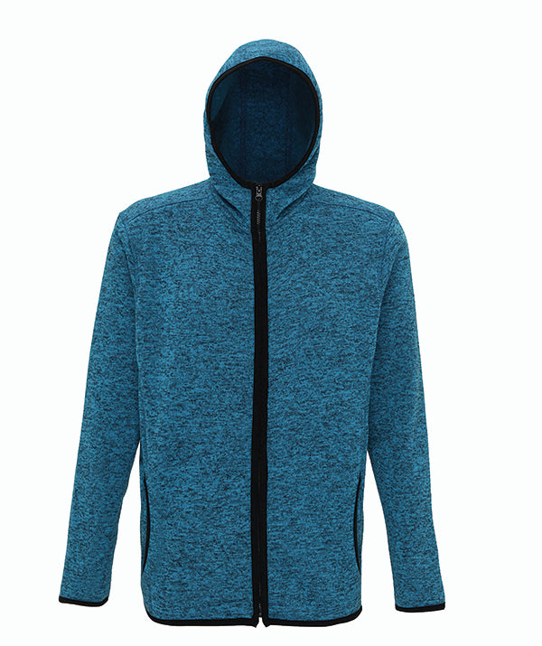 Melange Men's Knit Fleece Jacket