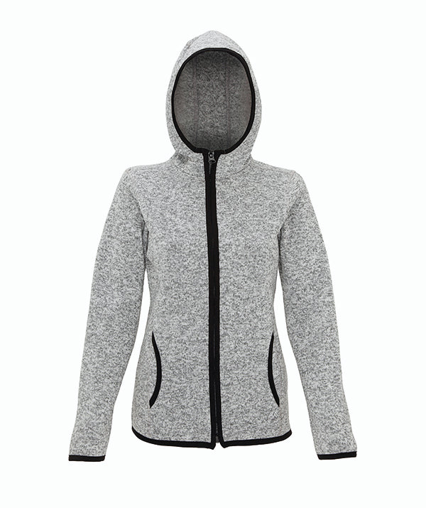 Melange Women's Knit Fleece Jacket