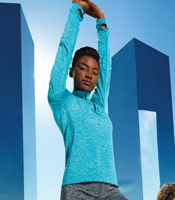 "Women's Seamless ""3D Fit"" Multi-sport Performance Zip Top"