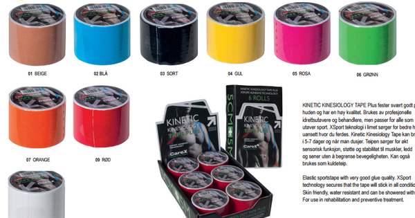 CX1025 KINETIC KINESIOLOGY TAPE PLUS