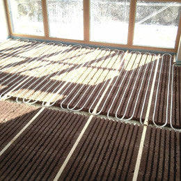 Efficiencient underfloor heating tiles - Lithotherm - backtoearthsupplies