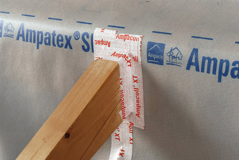 Breathable airtightness corner tape - Ampacoll XT Double Slit - 60mm x 25m - Back to Earth