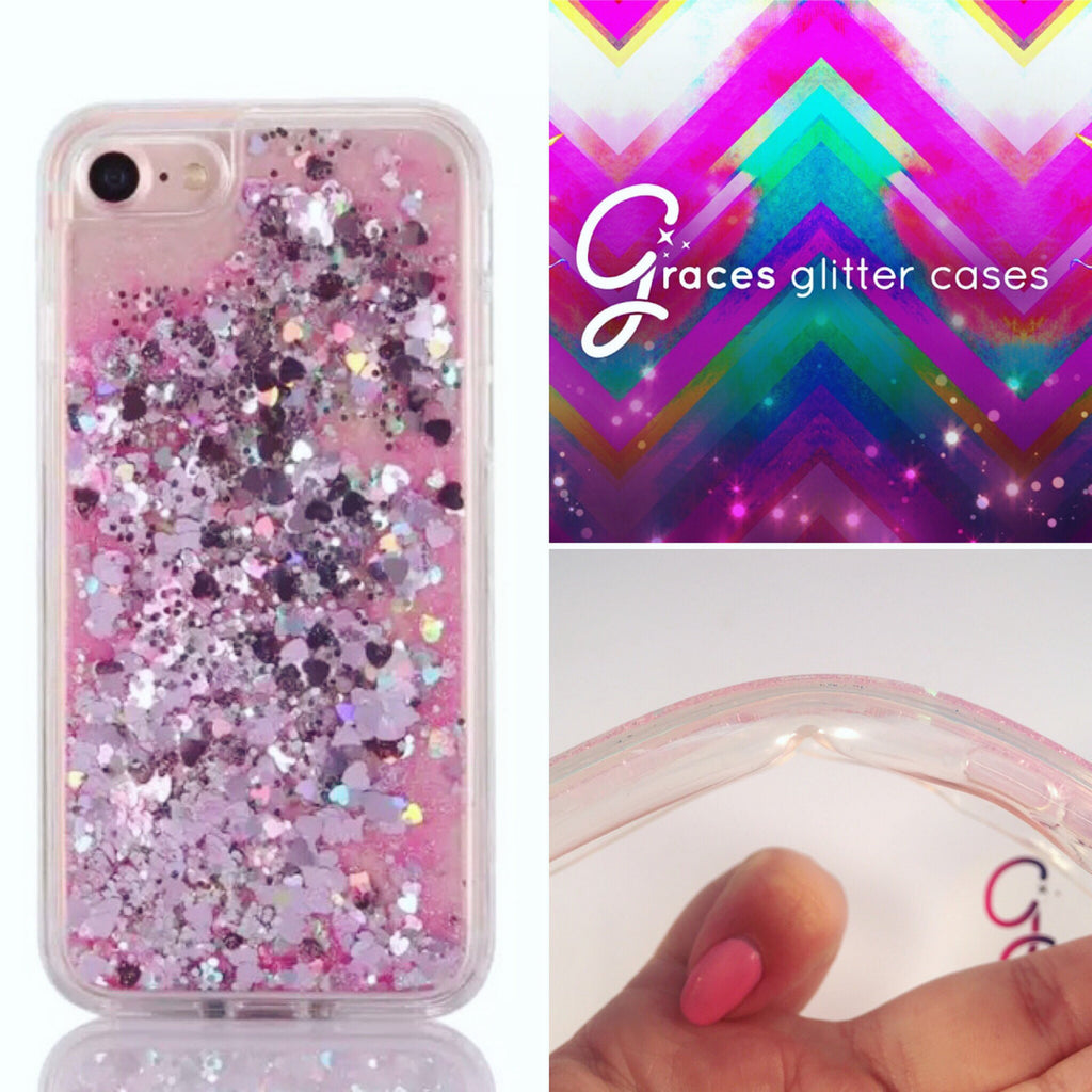 iphone 7 case glitter silicone