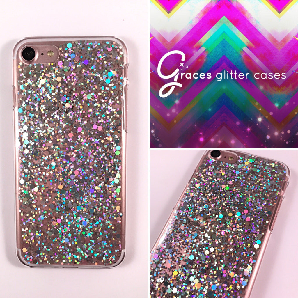 Excelsior Diamond - Silver holographic glitter - iPhone 7 6 plus 6s ...