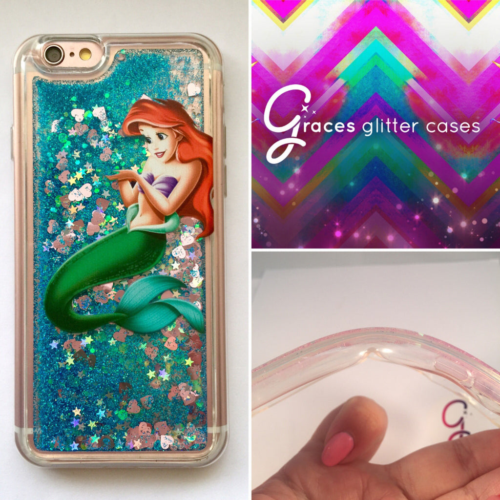 iphone 6 phone case glitter liquid