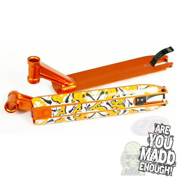 "DDAM 4.5"" STREET DECK - ORANGE (INTEGRATED/BRAKE/AXEL)"