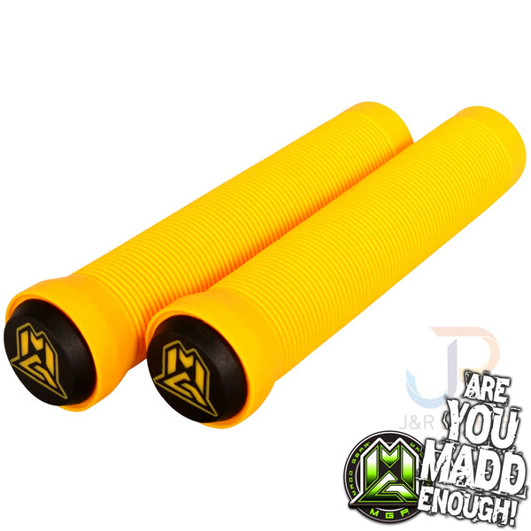MGP 150mm GRIND GRIPS w BAR ENDS - YELLOW