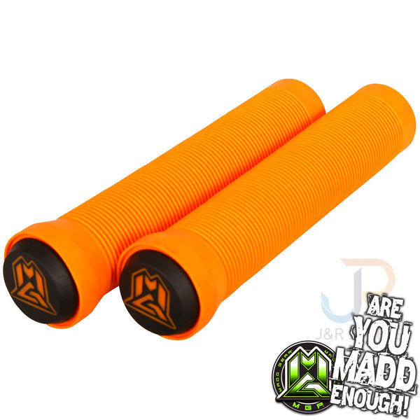 MGP 150mm GRIND GRIPS w BAR ENDS - ORANGE