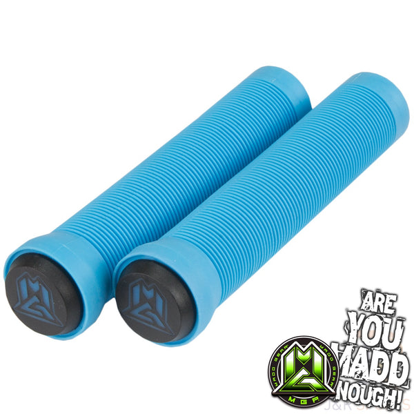 MGP 150mm GRIND GRIPS w BAR ENDS -  SKY BLUE