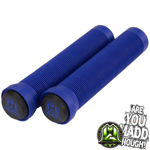 MGP 150mm GRIND GRIPS w BAR ENDS -  BLUE