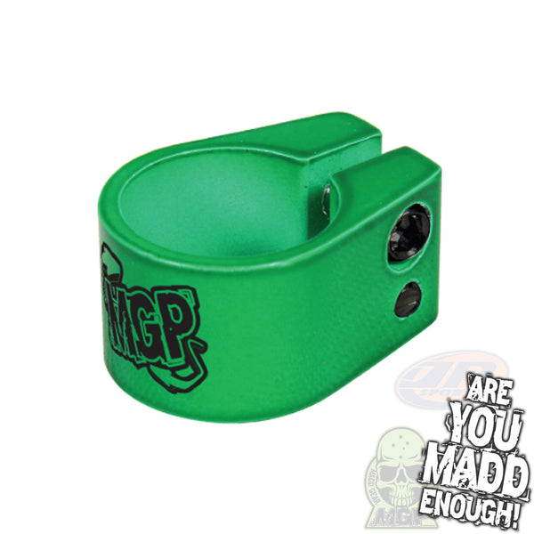MADD DOUBLE CLAMP - GREEN with MGP LOGO