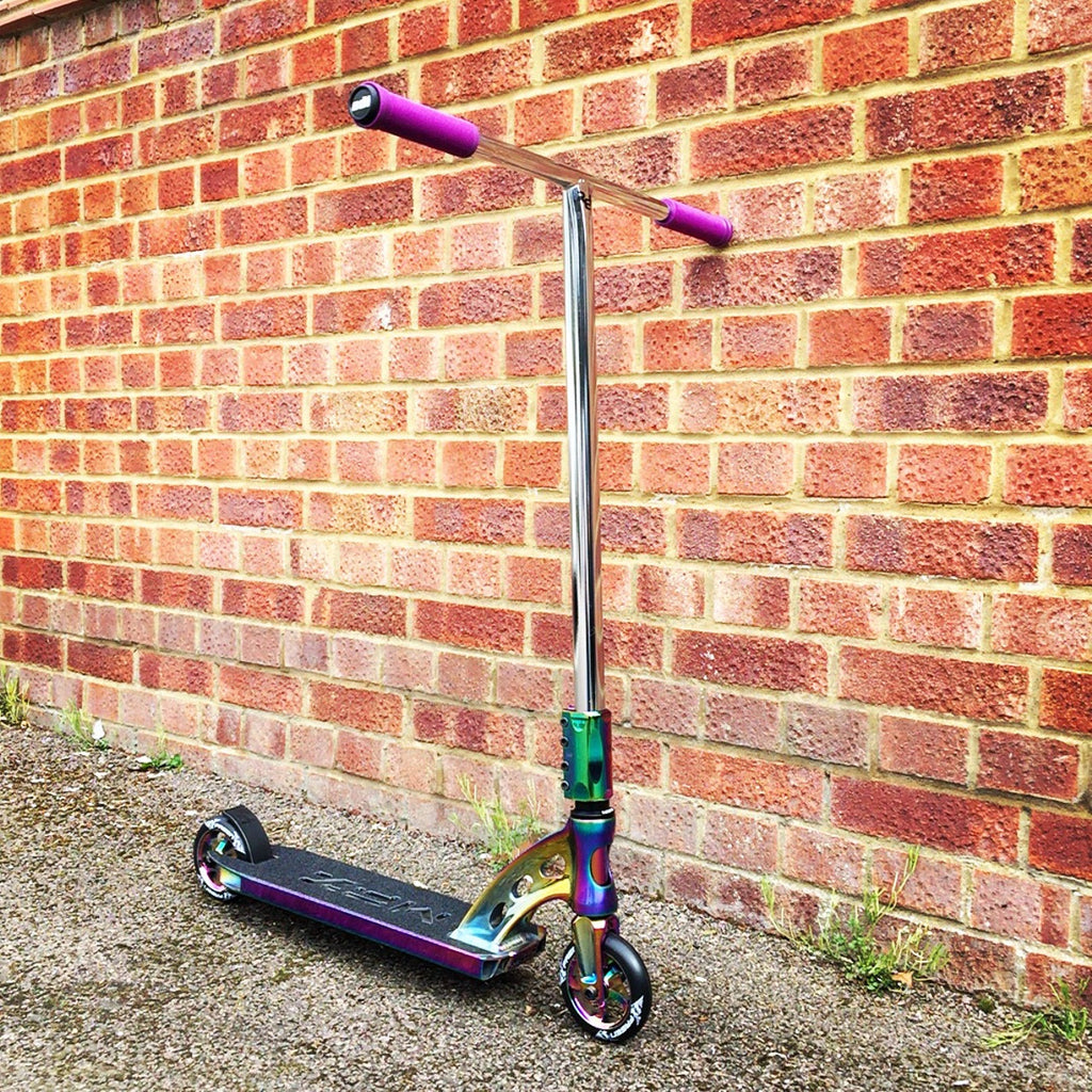 MGP MFX Vicious Custom Scooter - Limited Edition Neo Chrome - Indigo Scooters - 1