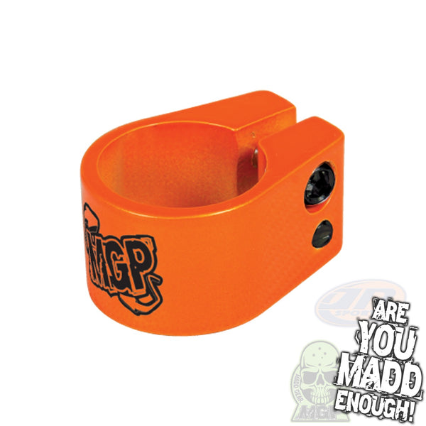 MADD DOUBLE CLAMP - ORANGE with MGP LOGO