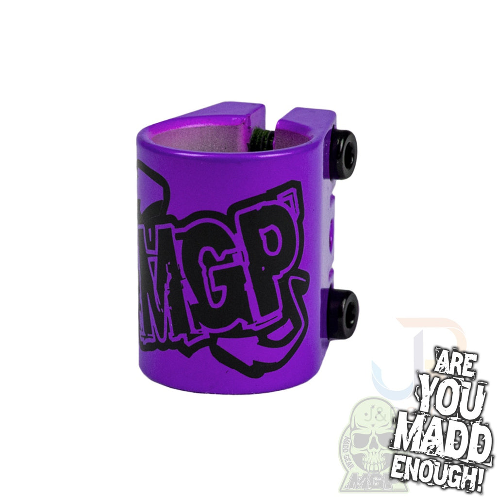 MGP TRIPLE CLAMP - PURPLE with LOGO