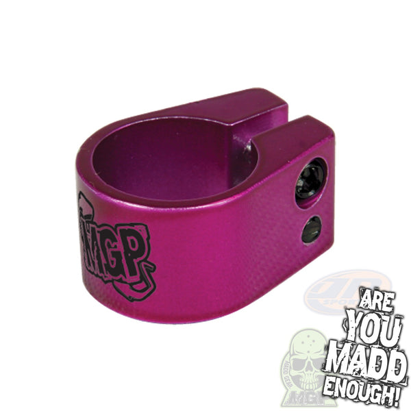 MADD DOUBLE CLAMP - PURPLE with MGP LOGO