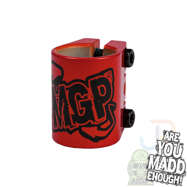 MGP TRIPLE CLAMP - RED with LOGO
