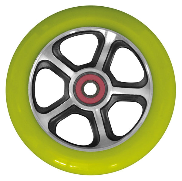MGP CFA 110mm Wheel - Black / Green - Indigo Scooters