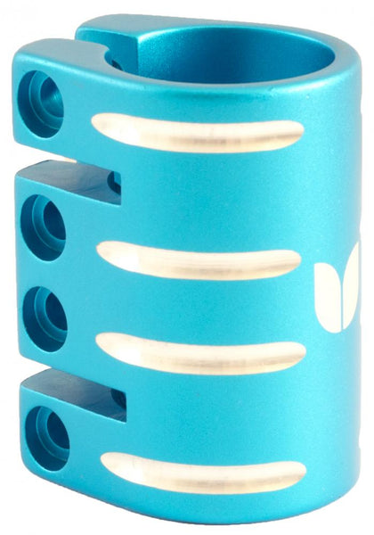 Blazer Pro Quad Clamp	With Shim-Blue 34.9  MM - Indigo Scooters