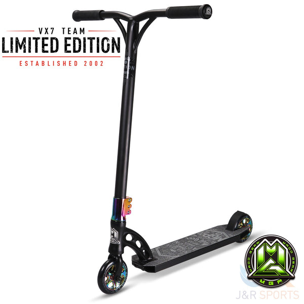MGP VX7 TEAM LIMITED EDITION – BLACK / NEO - Indigo Scooters