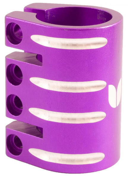 Blazer Pro Quad Clamp	With Shim-Purple 34.9  MM - Indigo Scooters