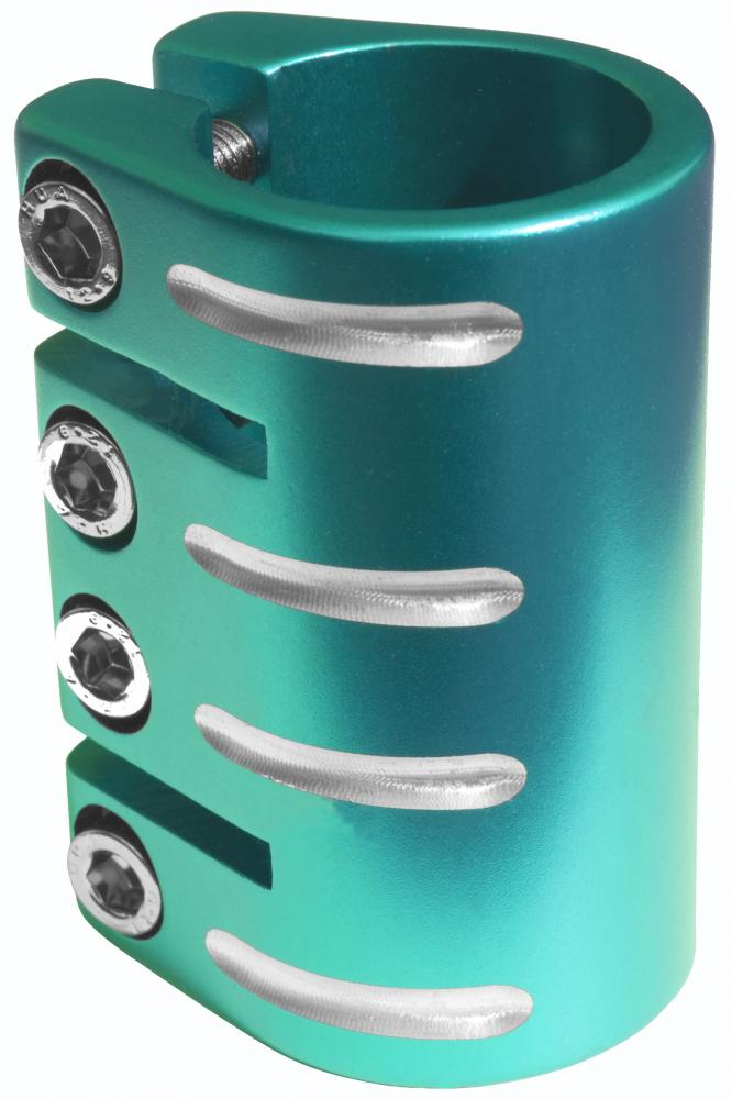 Blazer Pro Quad Clamp With Shim-Teal 34.9  MM