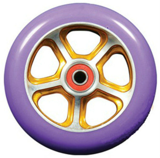 MGP CFA 110mm Wheel - Gold / Purple - Indigo Scooters