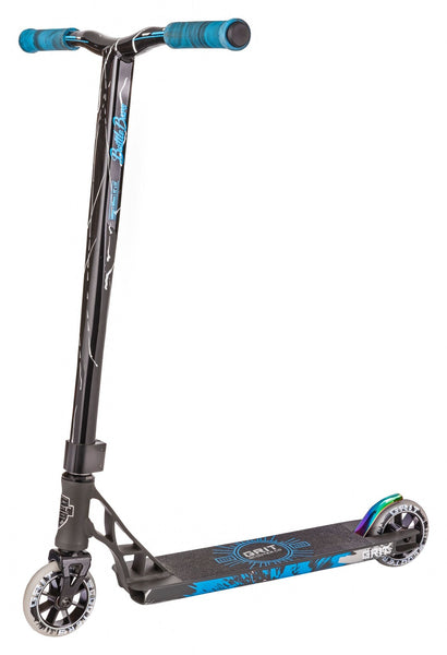 Grit Scooters Elite Complete Scooter - Satin Grey / Black White Quake
