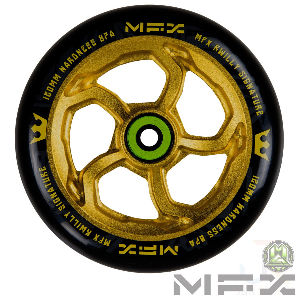 "MGP MFX ""R Willy"" Hurricane Signature Wheel 120mm - Anodised Gold"