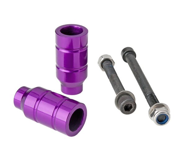 Grit Scooters Alloy Scooter Pegs - Anodized Purple