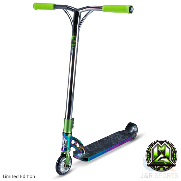 MGP VX7 Team Limited Edition Stunt Scooter-Neo Chrome/Lime - Indigo Scooters - 1