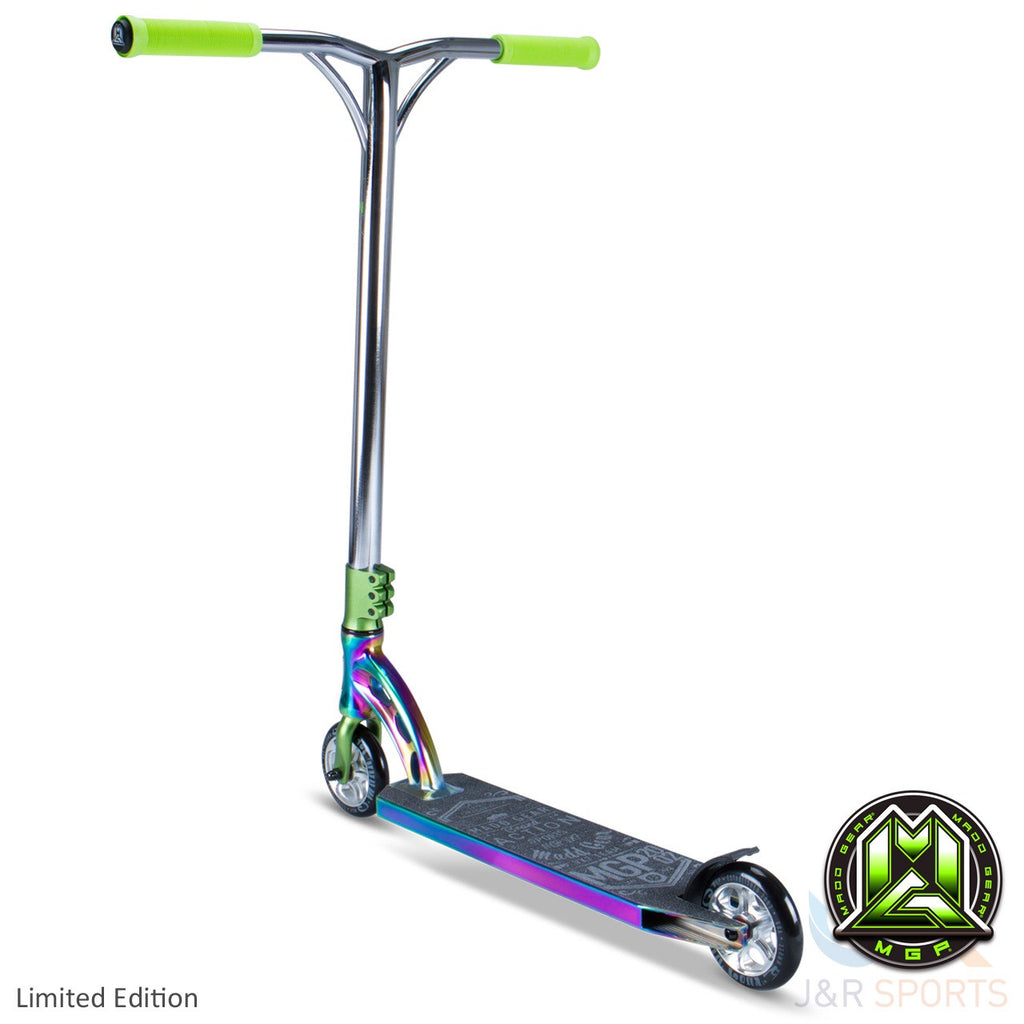 MGP VX7 Team Limited Edition Stunt Scooter-Neo Chrome/Lime - Indigo Scooters - 2