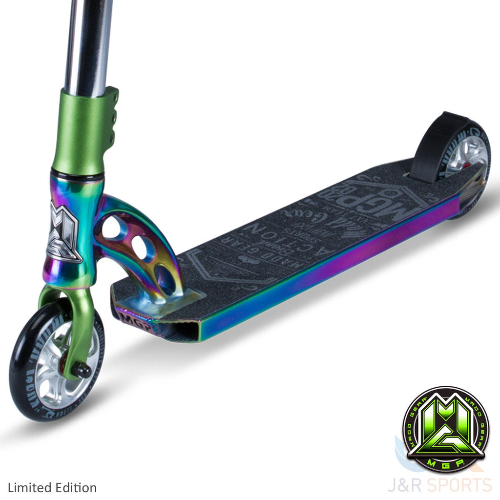 MGP VX7 Team Limited Edition Stunt Scooter-Neo Chrome/Lime - Indigo Scooters - 4