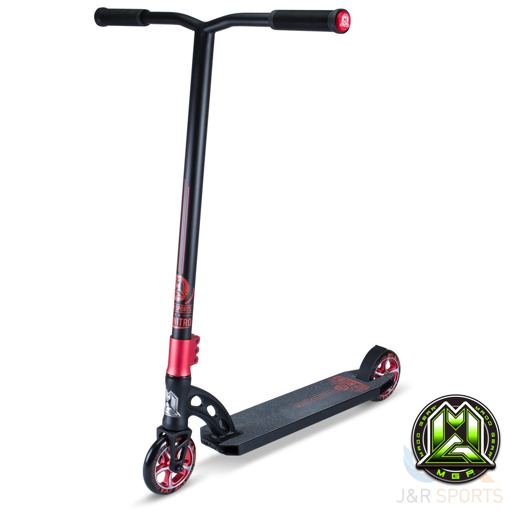 MGP VX7 Nitro Stunt Scooter - Black/Red - Indigo Scooters - 1