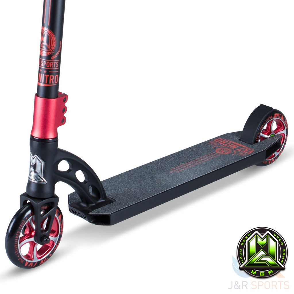 MGP VX7 Nitro Stunt Scooter - Black/Red - Indigo Scooters - 3