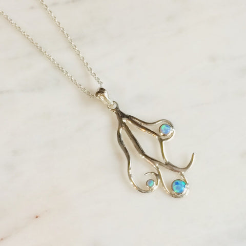Opal Swirl Necklace