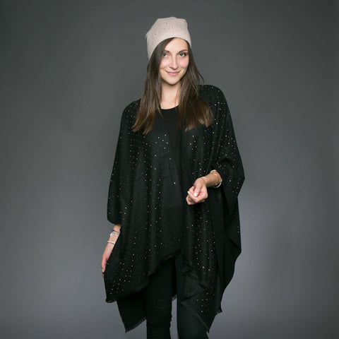 Sparkle Carmen Wrap Black