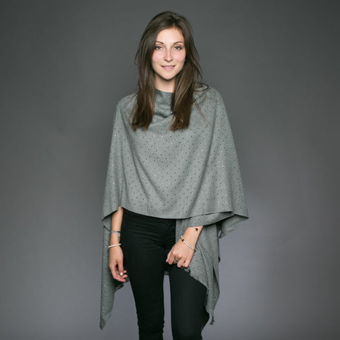 Sparkle Carmen Wrap Grey