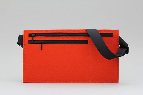 "gürteltasche ""travel office"" von filzkiste orange"