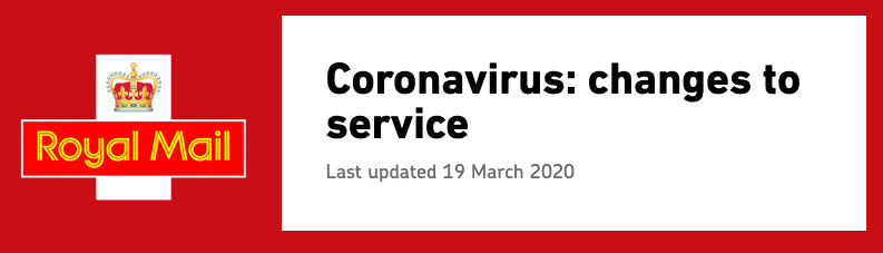 Coronavirus postage update from Royal Mail