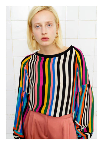 Beatrice Stripy Blouse at Blue Womens Clothing