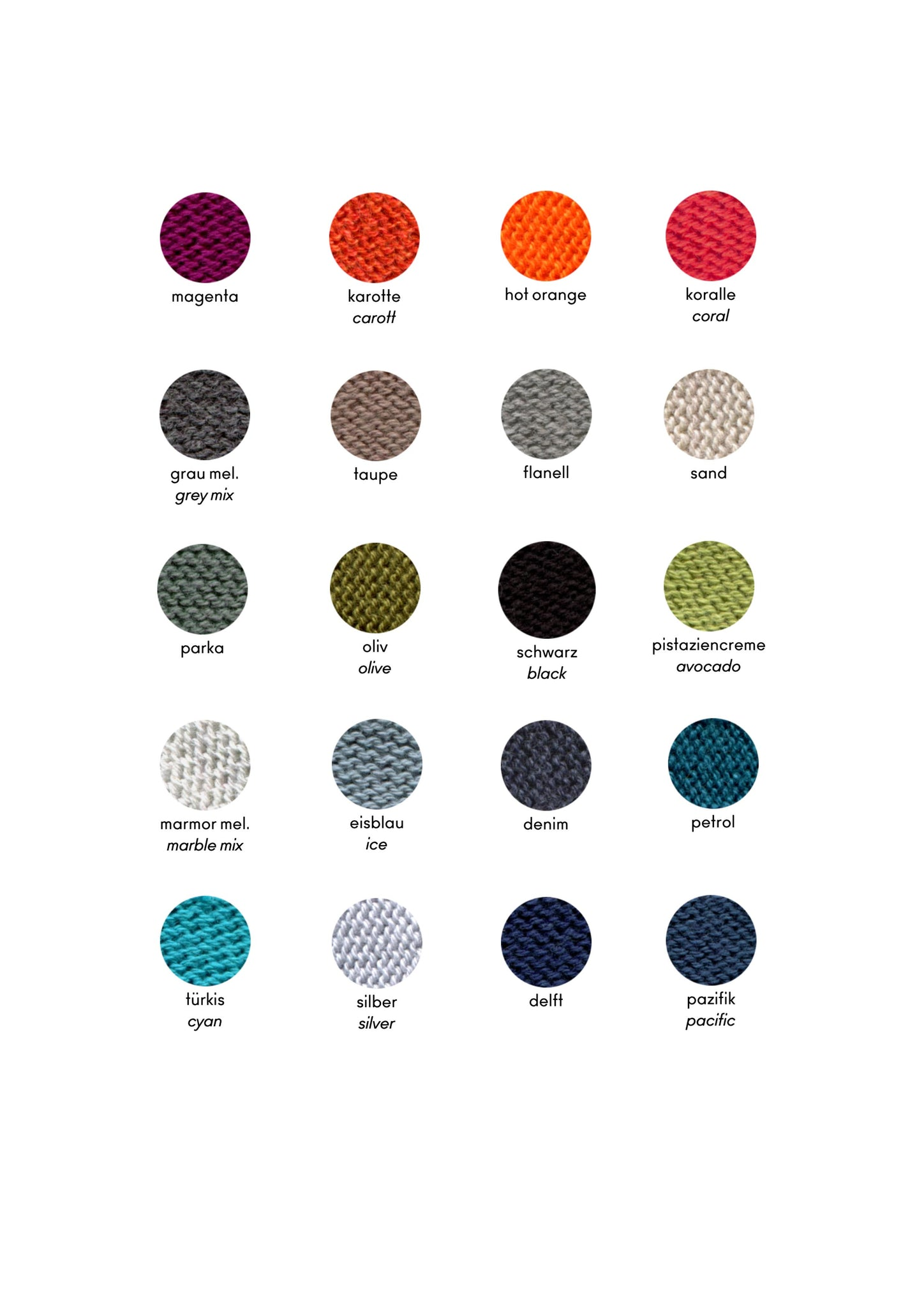 KOPKA organic cotton beret colours