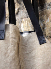 Leather and Canvas Recycled Eco Friendly Bag