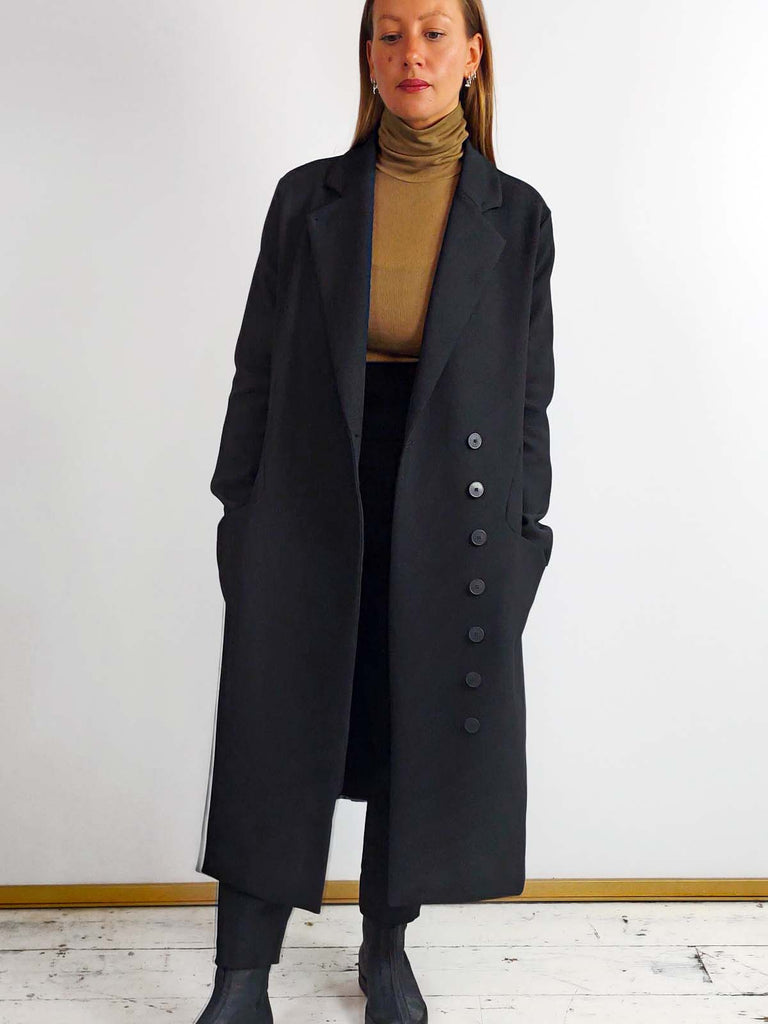 Ania Schierholt Long Black Jacket [2150/69]