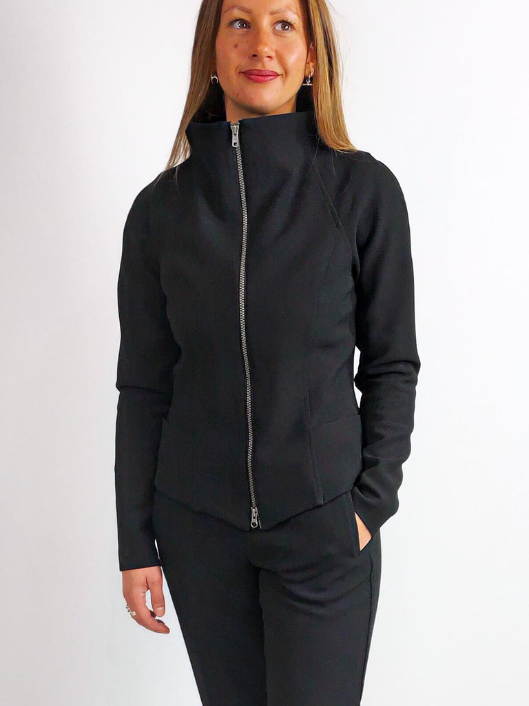 Ania Schierholt Zip Through Jacket [2147/69] Black