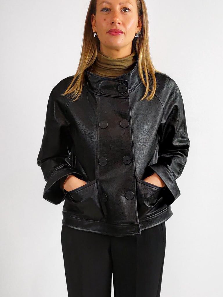 Ania Schierholt Faux Leather Jacket [2144/34] Black