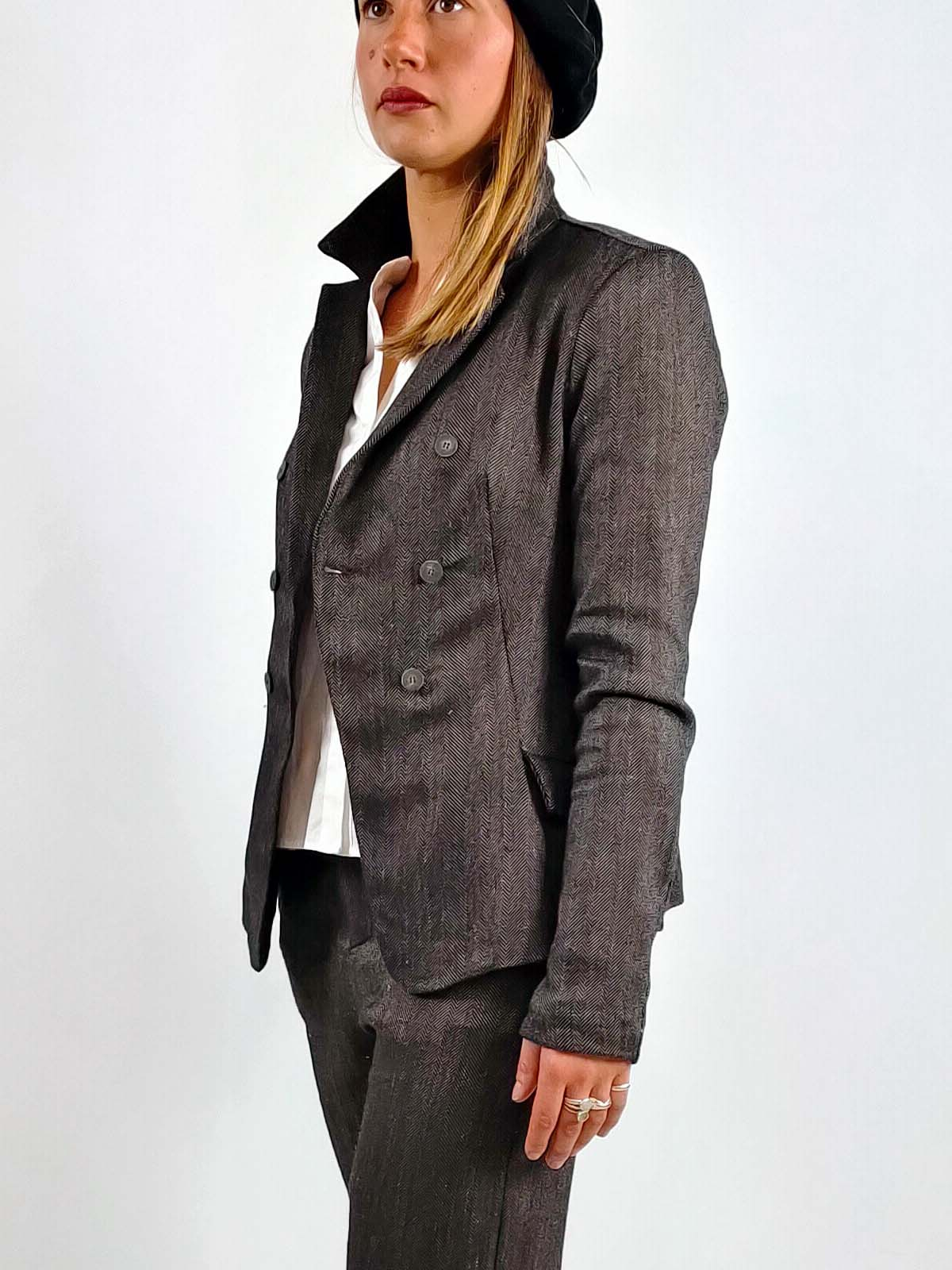 Transit Herringbone Suit Jacket [B112]