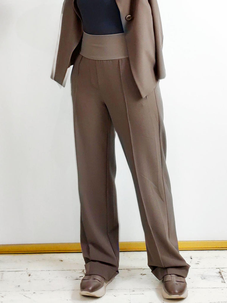 Ania Schierholt Long Straight Cut Trousers [1975/47] Mink