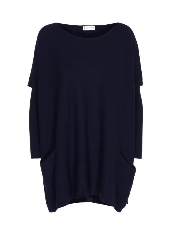 Tif Tiffy Batwing Jumper in Navy Blue
