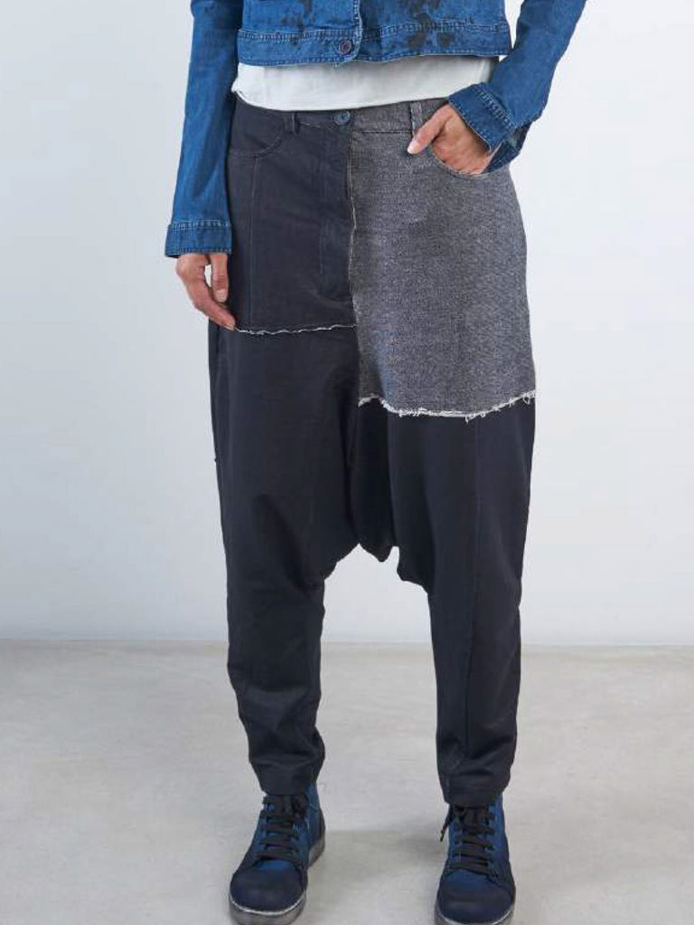 Rundholz Black Label Denim Look Patchwork Pants